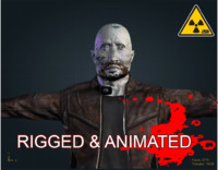 zombie male 3d x