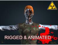 3d model zombie male