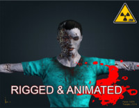 3d x zombie male