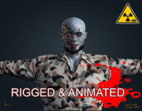 3d model of zombie male