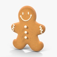 3d model gingerbread cookie 04