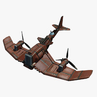 3d model of cartoony airplane