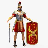 roman soldier 3d max
