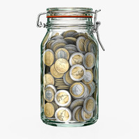 money jar 3d c4d