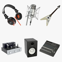music set 3d max