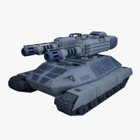 3dsmax tank sci fi