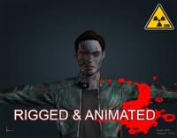 zombie male 3d fbx