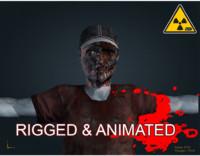 3d zombie male model