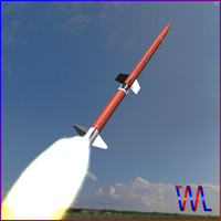 sounding rocket aerobee 170 3d model