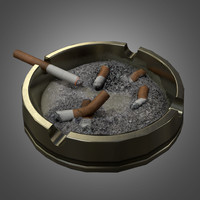 3d model cigarette ashtray