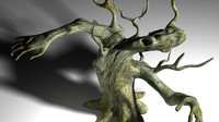 3d model monster tree