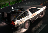 delorean time machine 3d max