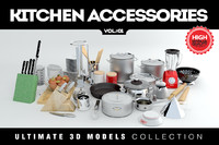 3ds max kitchen cookware