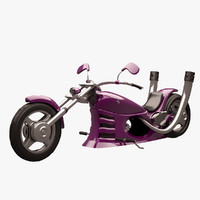 chopper vehicle motorcycle 3d max