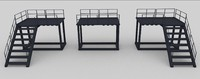 modular catwalk 3d model