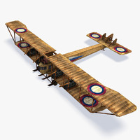 3d model ilya muromets military aircraft
