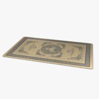 3d oriental rug model