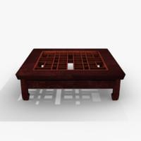 oriental table 3d model