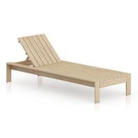 3d model simple wooden sunbed