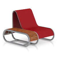 c4d modern red chair