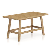 3d model simple wooden table