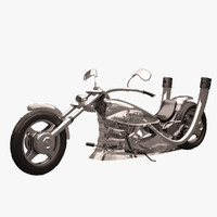 3ds max chopper futuristic