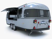 3d airstream trailer