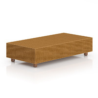 3d model rectangular wicker coffeetable