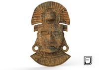 3d mask aztec model