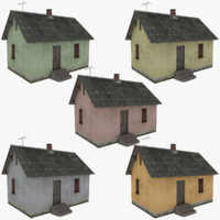 3d rural cottage model