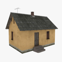 3d model of rural cottage