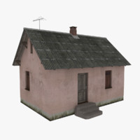 3d rural cottage