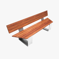 3d model bench outdoor public
