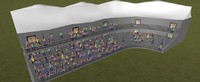 3d model stadium crowd people rigged