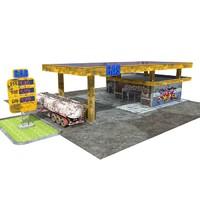 3d model station gas