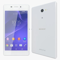 3d realistic sony xperia m2 model