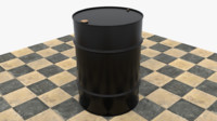 Drum 55 gal black