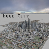 city huge 3d 3ds