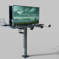 3d model highway billboard
