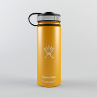 3d hydro flask insulated water bottle model