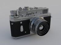 old camera zorki 4 3d max