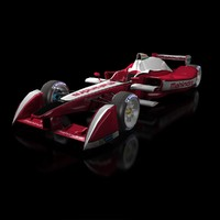 3d model formula e mahindra racing