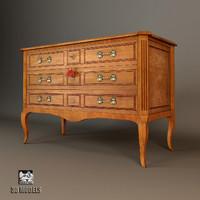 chest drawers salda 5832 3d model