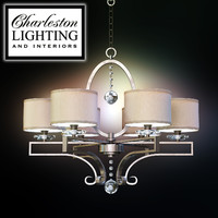 Charleston lighting and interiors/SIX LIGHT TRANSITIONAL CHANDELIER/313266