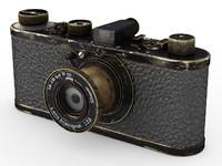 leica -series vintage camera 3d model