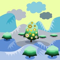 tileable christmas mountains background for mobile game