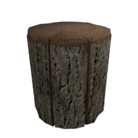 3d tree stump model