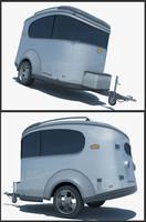 3d model airstream trailer