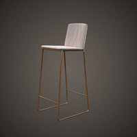jardan seb kitchen bar stool 3d model