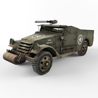 3ds max half-track m3 vehicle